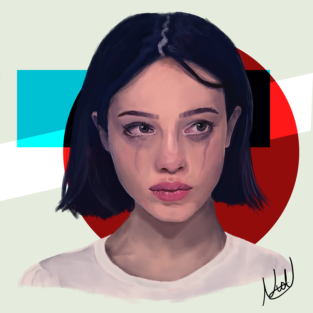Digital art | Portrait study